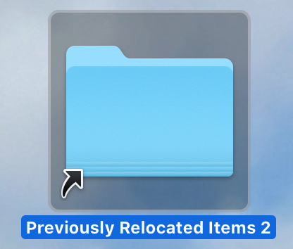 Previously Relocated Items Folder Desktop Alias
